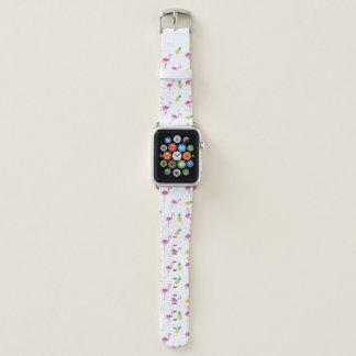 Bracelet Apple Watch Flamants au néon