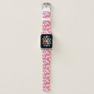 Bracelet Apple Watch Flamants d'aquarelle dans les aquarelles