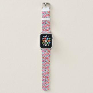 Bracelet Apple Watch Flamants d'aquarelle recueillis