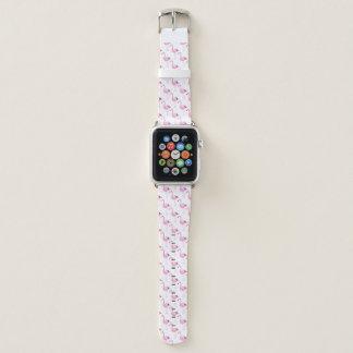 Bracelet Apple Watch Flamants roses