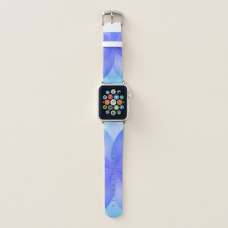 Bracelet Apple Watch Fleur de Lotus abstraite de bandes de montre