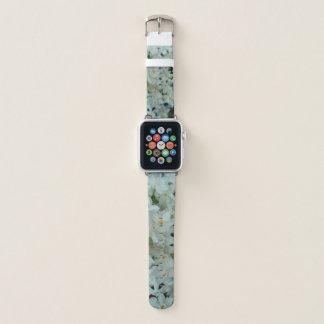 Bracelet Apple Watch Fleurs blanches sensibles de narcisse de