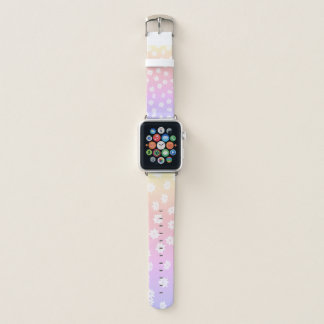 Bracelet Apple Watch Fleurs d'arc-en-ciel