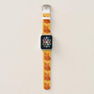 Bracelet Apple Watch Fox géométrique mignon d'origami de bande dessinée