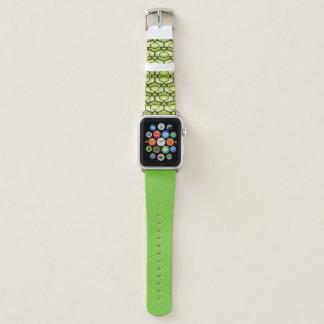 Bracelet Apple Watch Géométrique vert