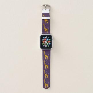Bracelet Apple Watch Girafe de patinage drôle mignonne de bande