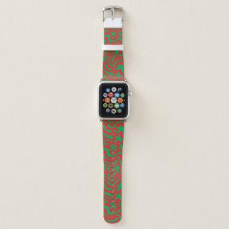 Bracelet Apple Watch Goutte et gribouillis fous de Noël