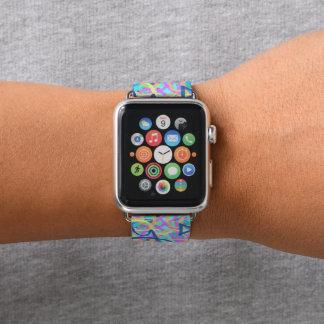 Bracelet Apple Watch Graffiti abstrait de bleu peignant 2 une bande de