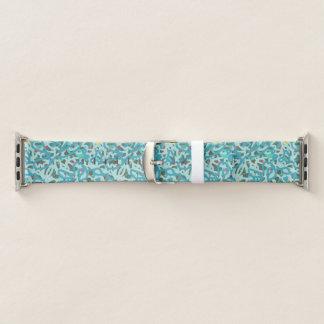 Bracelet Apple Watch Graffiti abstrait de bleu peignant une bande de