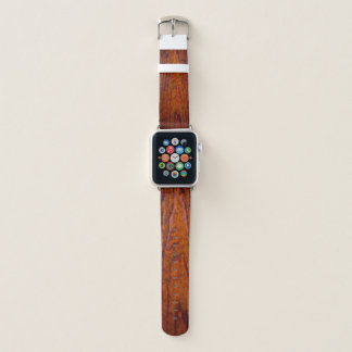 Bracelet Apple Watch Grain en bois rustique antique (photo)