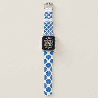 Bracelet Apple Watch Grand Polkadot bleu