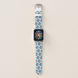 Bracelet Apple Watch Griffonnage de visage de chat de Kitty