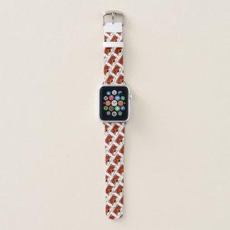 Bracelet Apple Watch Griffonnage de visage de Fox