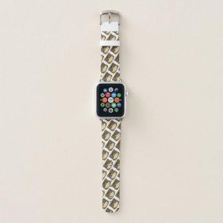 Bracelet Apple Watch Griffonnage de visage de hibou