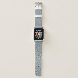 Bracelet Apple Watch Gris/bande de montre Apple de gouttes de pluie
