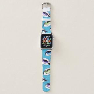 Bracelet Apple Watch Groupe de yeux bleus