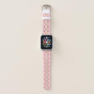 Bracelet Apple Watch Hibou rose mignon de bébé