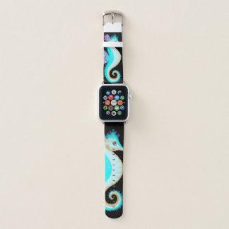 Bracelet Apple Watch Hippocampe de turquoise