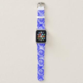 Bracelet Apple Watch Illusion en spirale bleue par Kenneth Yoncich