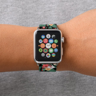Bracelet Apple Watch impression florale