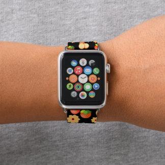 Bracelet Apple Watch Impression florale fruits et fleurs