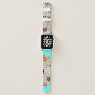 Bracelet Apple Watch La marine prise la carte vintage beige Teal
