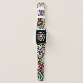 Bracelet Apple Watch La pirouette Apple observent la bande en cuir