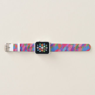 Bracelet Apple Watch La sucrerie d'arc-en-ciel pointille la bande de