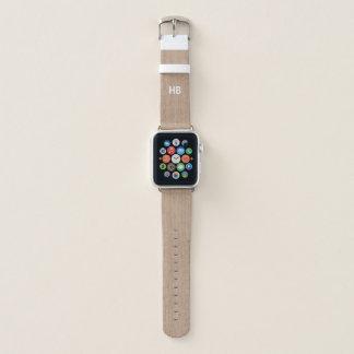 Bracelet Apple Watch La texture en bois Apple de Faux observent la