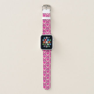 Bracelet Apple Watch Lama de rose de bande de montre d'Apple