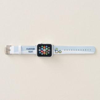 Bracelet Apple Watch Lancer des boules de neige des pingouins