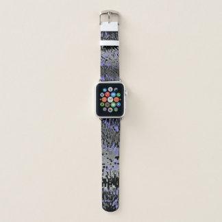 Bracelet Apple Watch Le bleu sauvage et les gris d'impression sur le