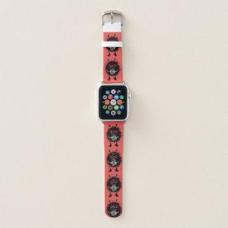 Bracelet Apple Watch Le caractère mauvais d'insecte de geek aime lire