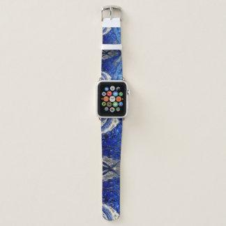 Bracelet Apple Watch Le crâne bleu Apple observent