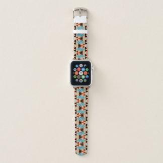 Bracelet Apple Watch Le diamant rustique ajuste le motif en bois d'art