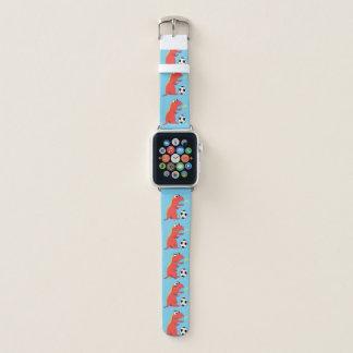 Bracelet Apple Watch Le football drôle bleu de dinosaure de bande