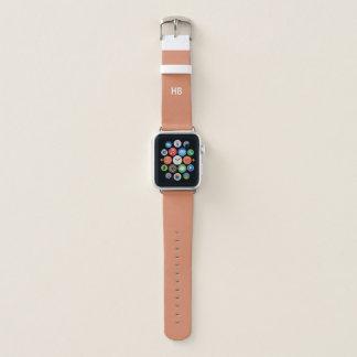 Bracelet Apple Watch Le monogramme Apple observent la bande en cuir