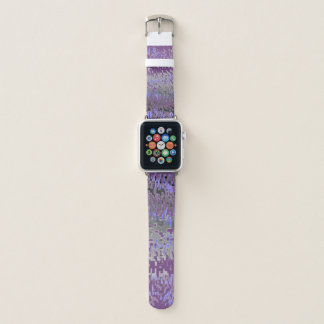 Bracelet Apple Watch Le pourpre et le bleu se fanent au gris