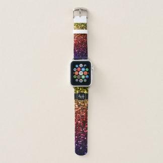 Bracelet Apple Watch Le pourpre rouge jaune d'arc-en-ciel miroite