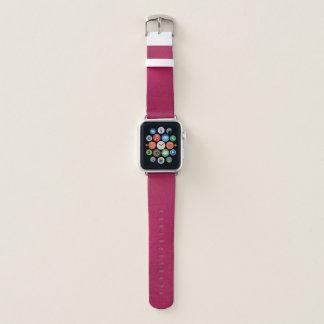 Bracelet Apple Watch Le regard métallique rose chic Apple observent la