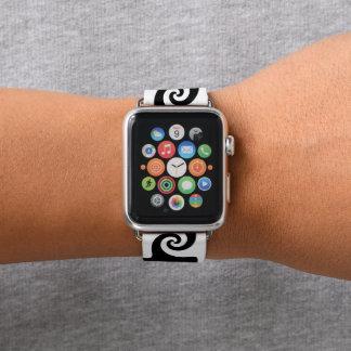 Bracelet Apple Watch Le remous personnalisable forme le tribal comme