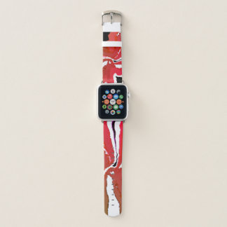 Bracelet Apple Watch Le rouge chic Girly 38mm Apple observent les