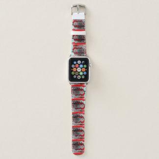 Bracelet Apple Watch Le timbre Apple graphique de cabine observent le