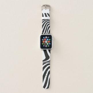Bracelet Apple Watch Le zèbre barre le poster de animal noir et blanc