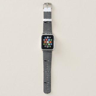 Bracelet Apple Watch Le zèbre dépouille la bande de montre d'Apple