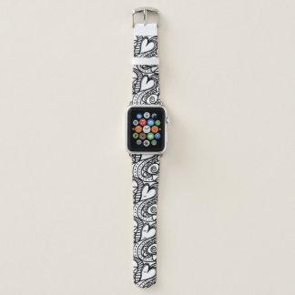 Bracelet Apple Watch Les coeurs sauvages Apple observent la bande en