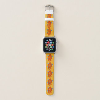 Bracelet Apple Watch Les insectes mignons mangent la feuille d'automne