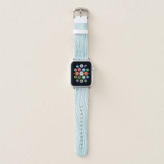 Bracelet Apple Watch Lignes optiques bleues