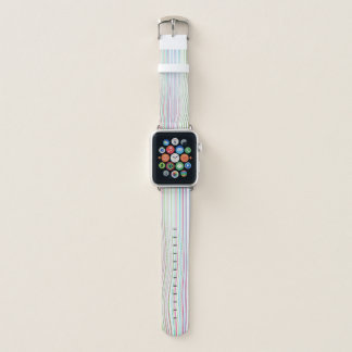 Bracelet Apple Watch Lignes optiques multicolores