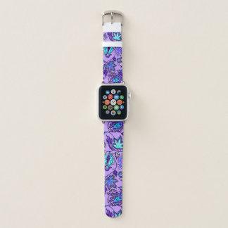 Bracelet Apple Watch Lilas floral tropical hawaïen de batik de Protea
